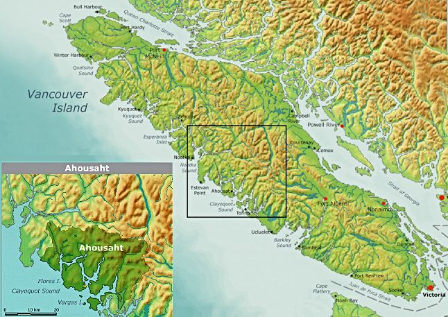 Ahousaht First Nation Map