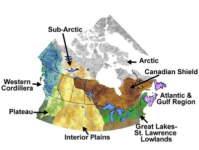 Canada First Nations Geographical Regions