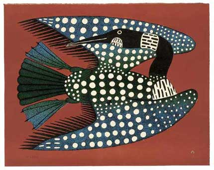 Loon by Inuit Artist Kenojuak Ashevak