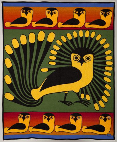Inuit Artist Kenojuak Ashevak - Tapestry of Owls