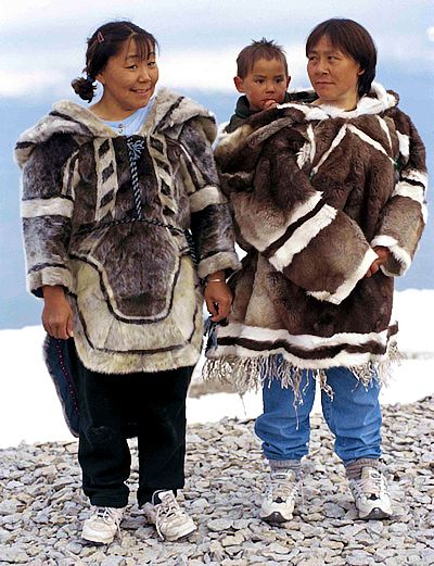 Arviat, sealskin clothing