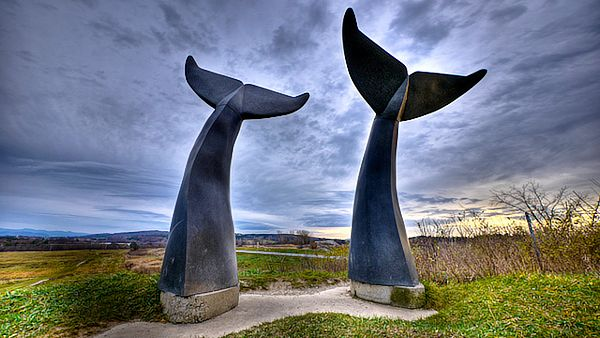 Arviat Whale Tails Monument