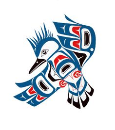 Picture of Inuit Kingfisher totem